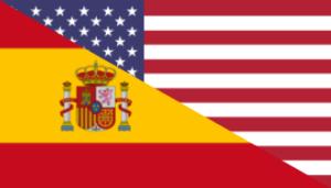 Spain and English Flag