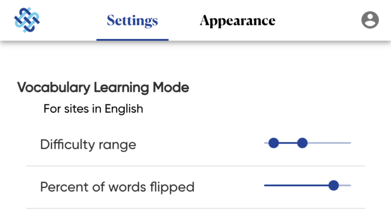 Vocabulary Learning Mode